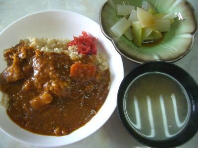 トマトと豚肉のカレー