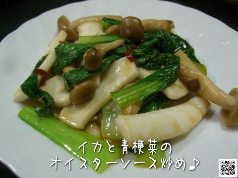 イカと青梗菜のオイスターソース炒め