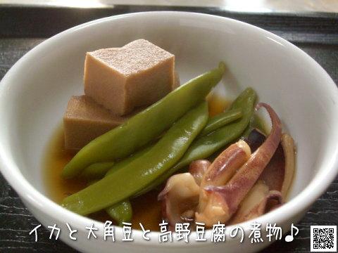 イカと大角豆と高野豆腐の煮物