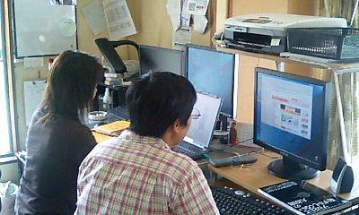 パソコン講習風景
